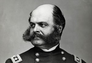General Ambrose Burnside. Better remembered for his facial hair than being a general.